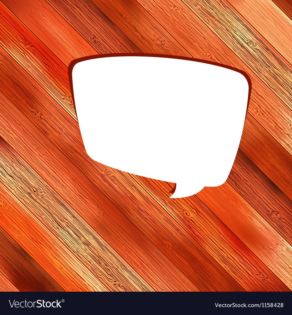 Wooden background with speech bubble  eps8 vector | Price: 1 Credit (USD $1)