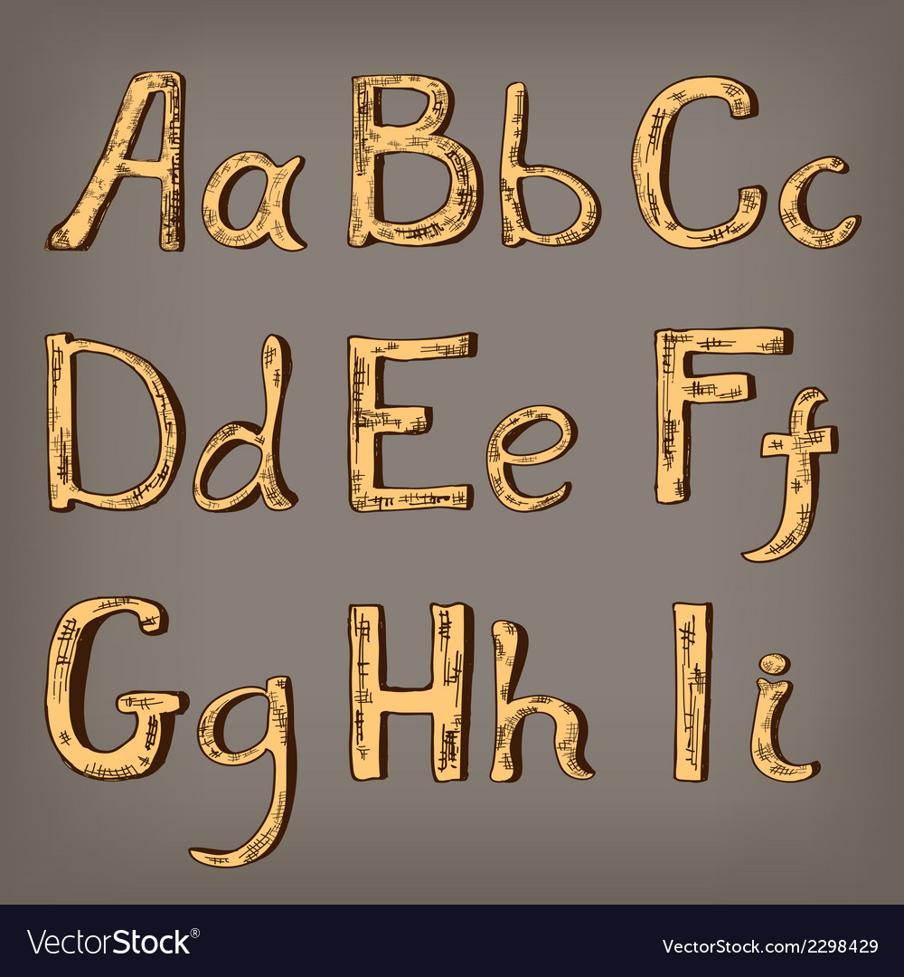 Alphabet vector | Price: 1 Credit (USD $1)