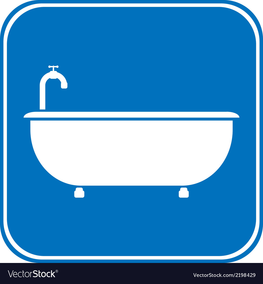 Bathtub icon vector | Price: 1 Credit (USD $1)