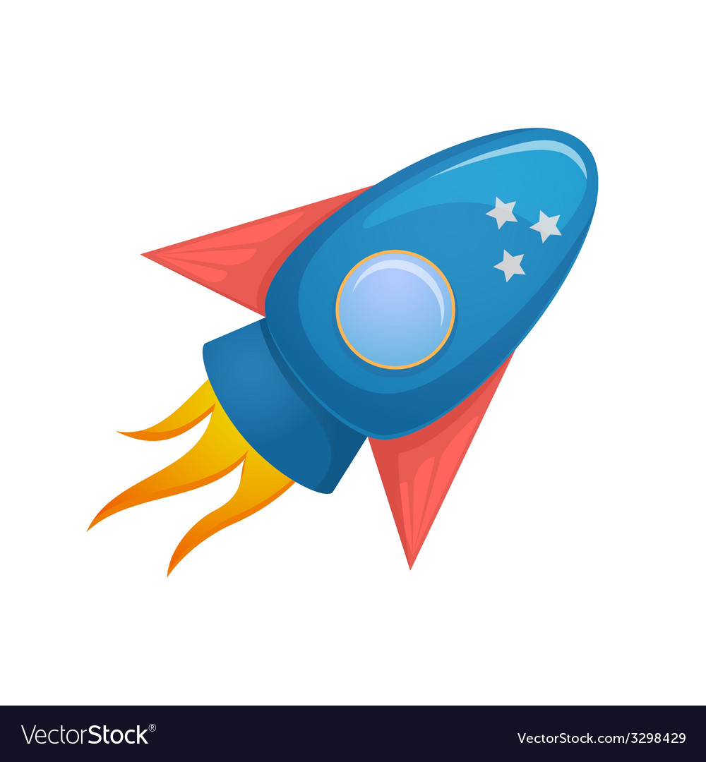 Cartoon rocket 3d vector | Price: 1 Credit (USD $1)