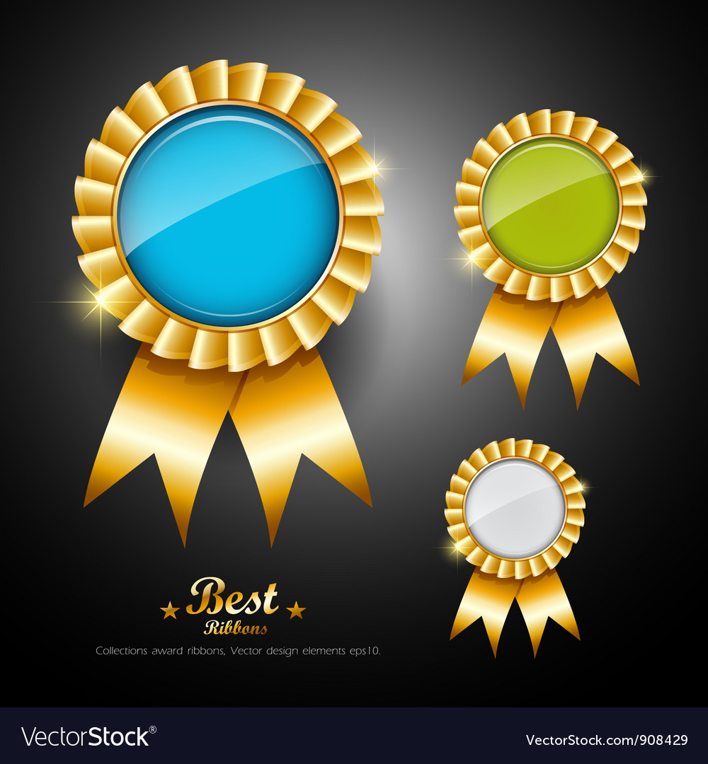Collections colorful ribbons award vector | Price: 3 Credit (USD $3)
