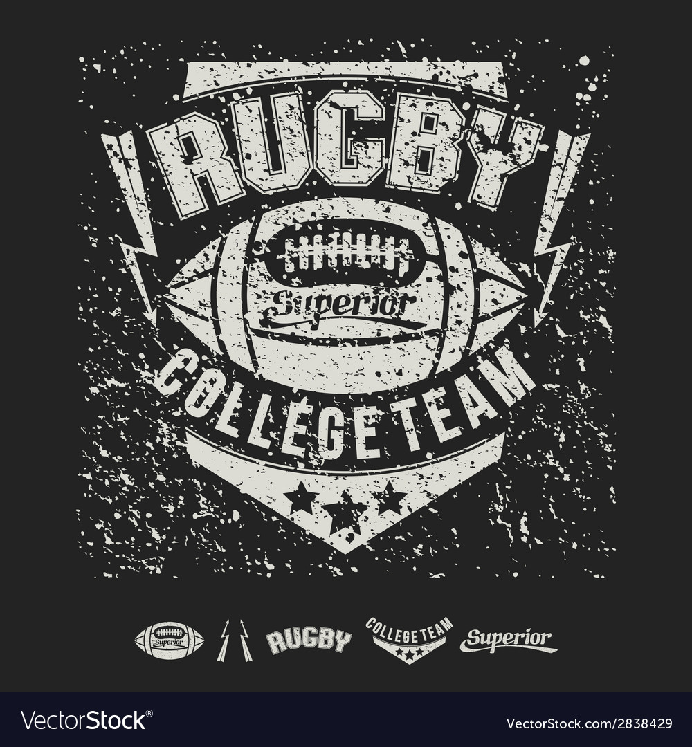 College team american football emblem vector | Price: 1 Credit (USD $1)