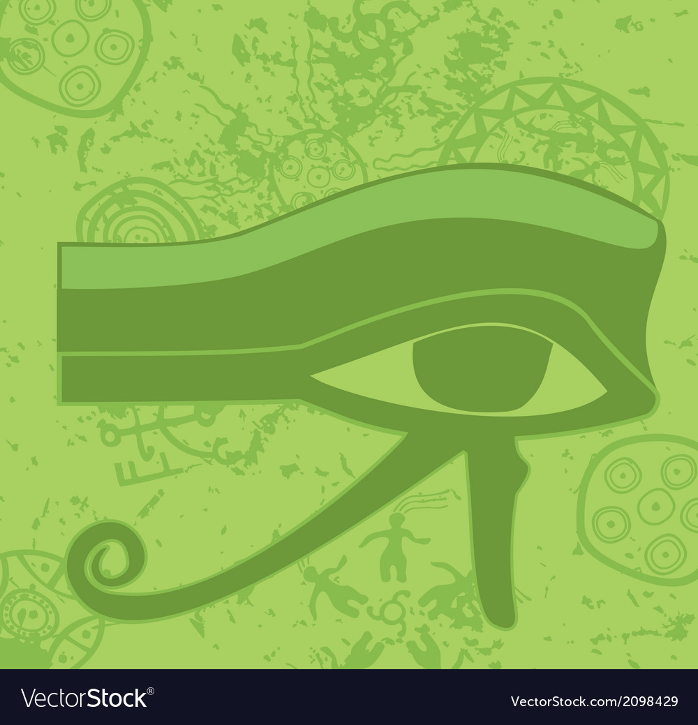 Grunge egyptian eye of horus ancient deity vector | Price: 1 Credit (USD $1)