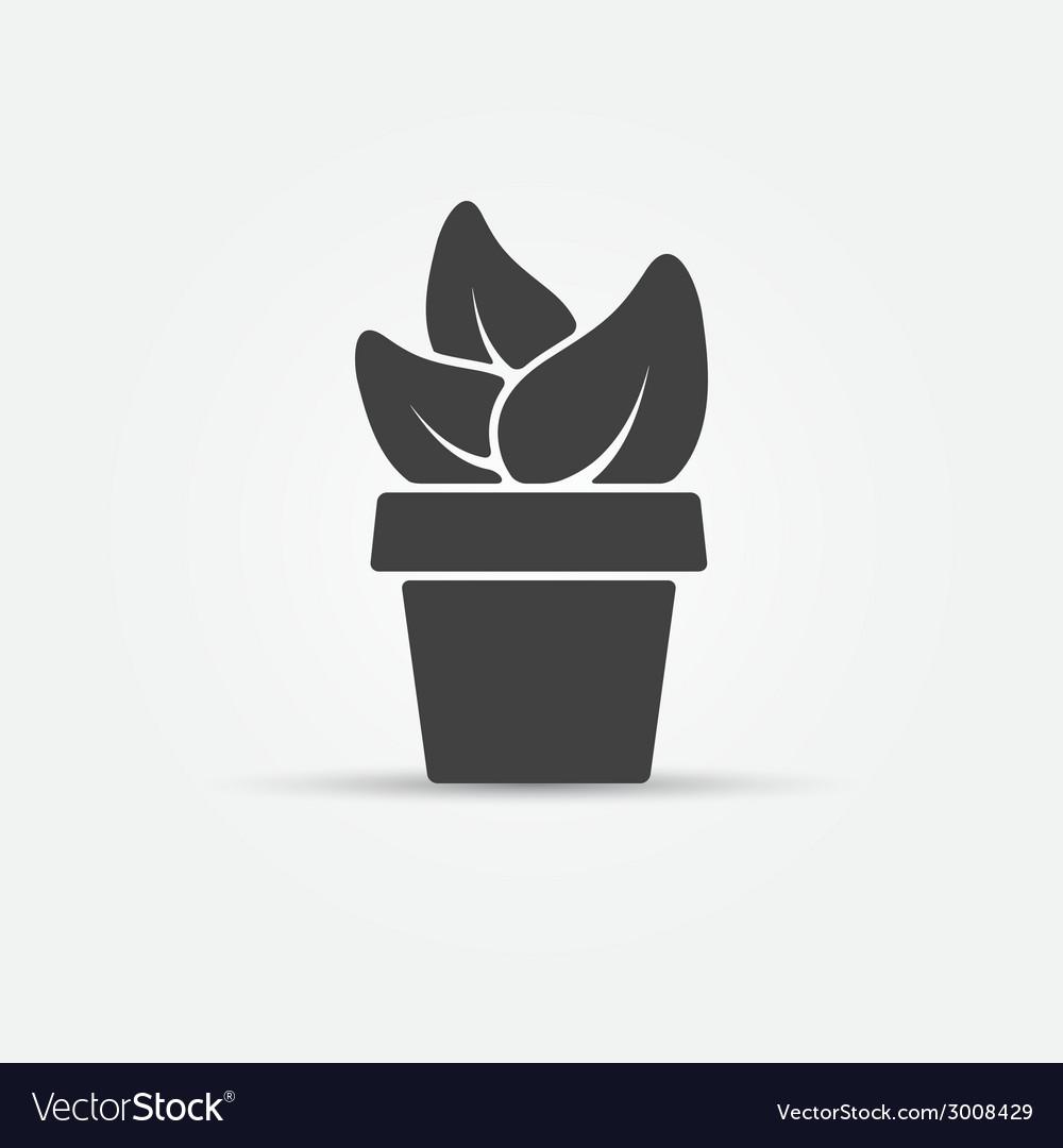Houseplant icon vector | Price: 1 Credit (USD $1)