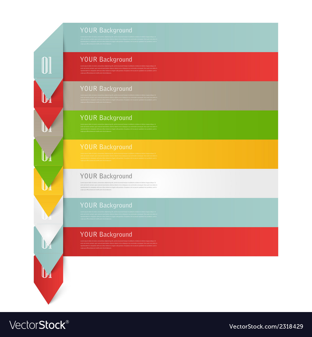 Modern business origami style options banner vector   Price: 1 Credit (USD $1)