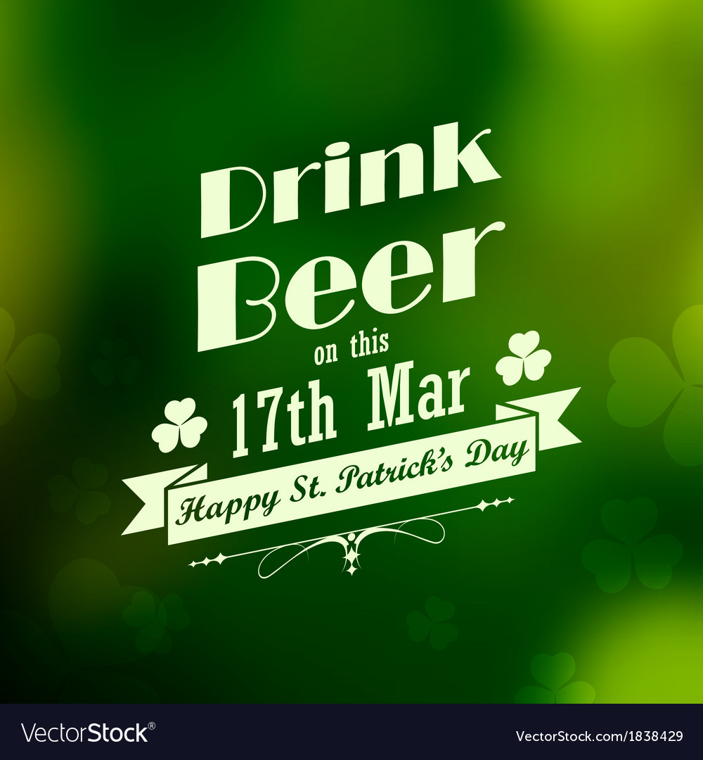 Saint patricks day background vector | Price: 1 Credit (USD $1)
