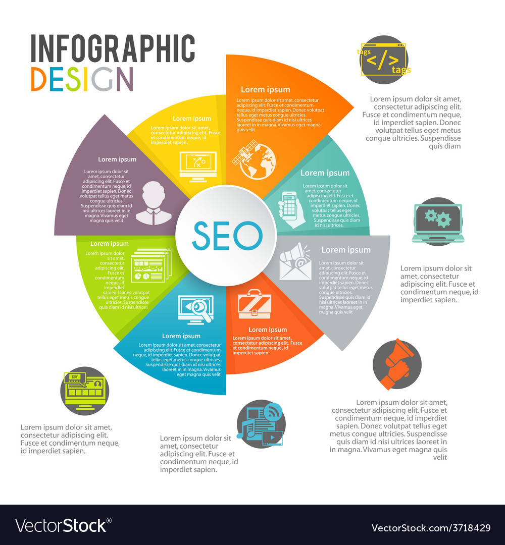 Seo internet marketing infographics vector | Price: 1 Credit (USD $1)