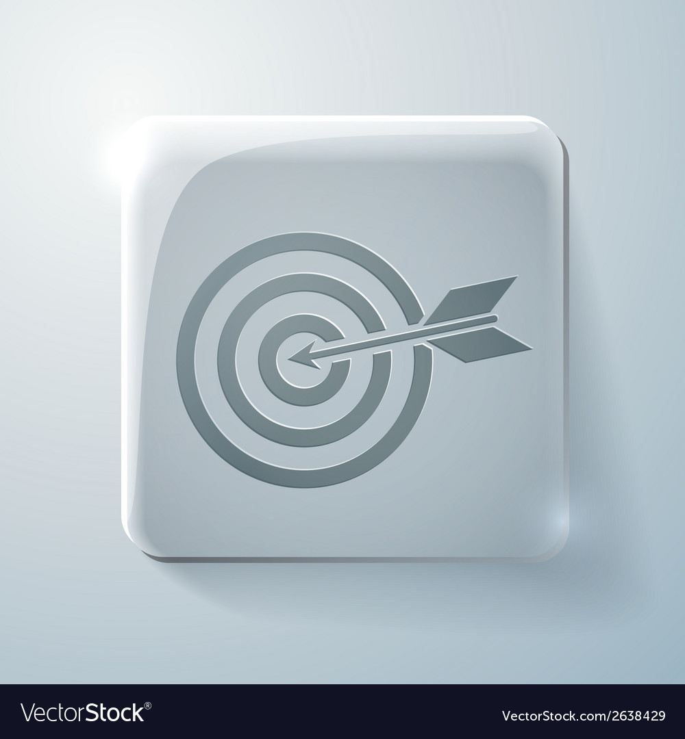 Target glass square icon vector | Price: 1 Credit (USD $1)