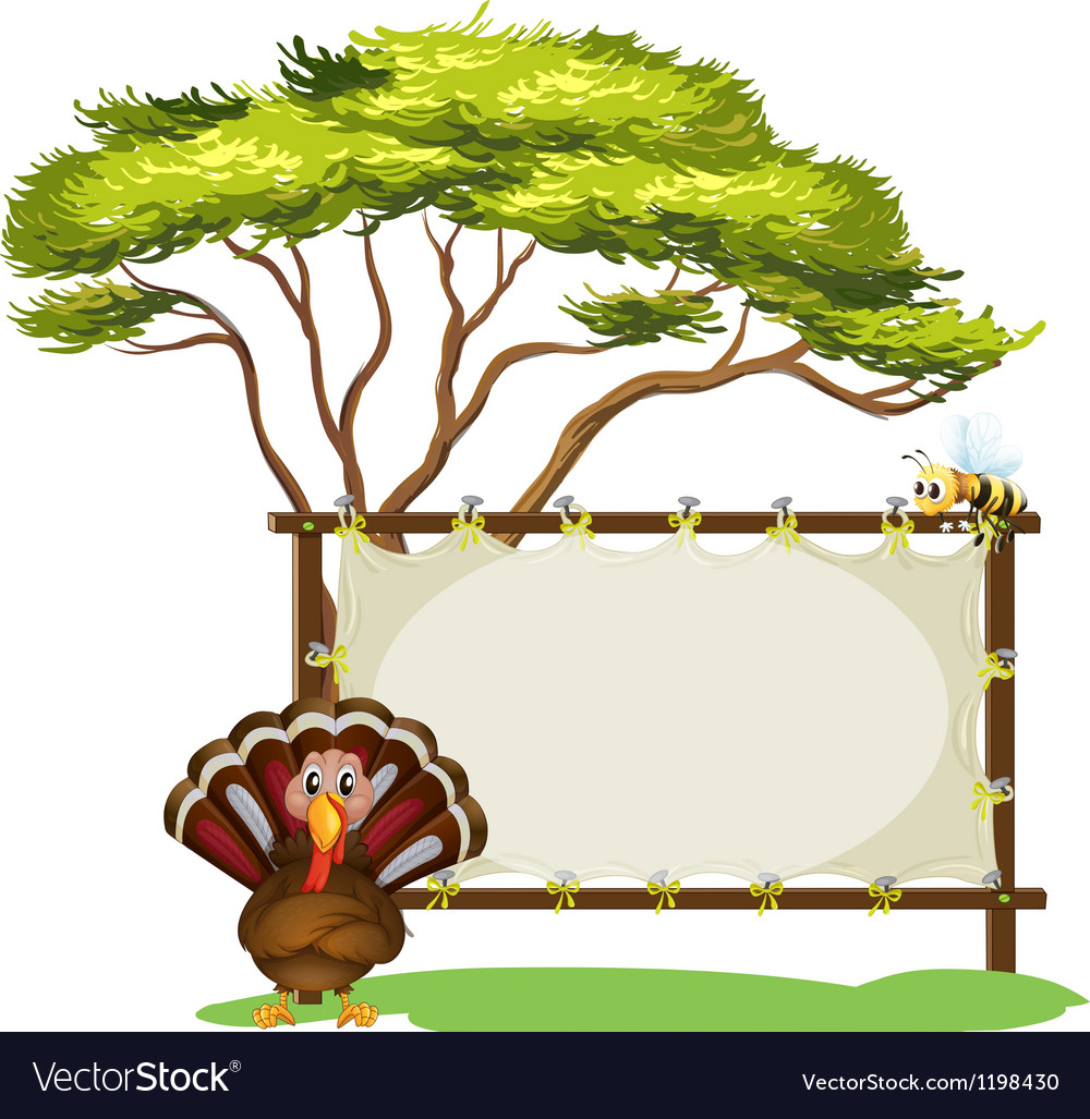 A turkey and the empty signage vector | Price: 1 Credit (USD $1)