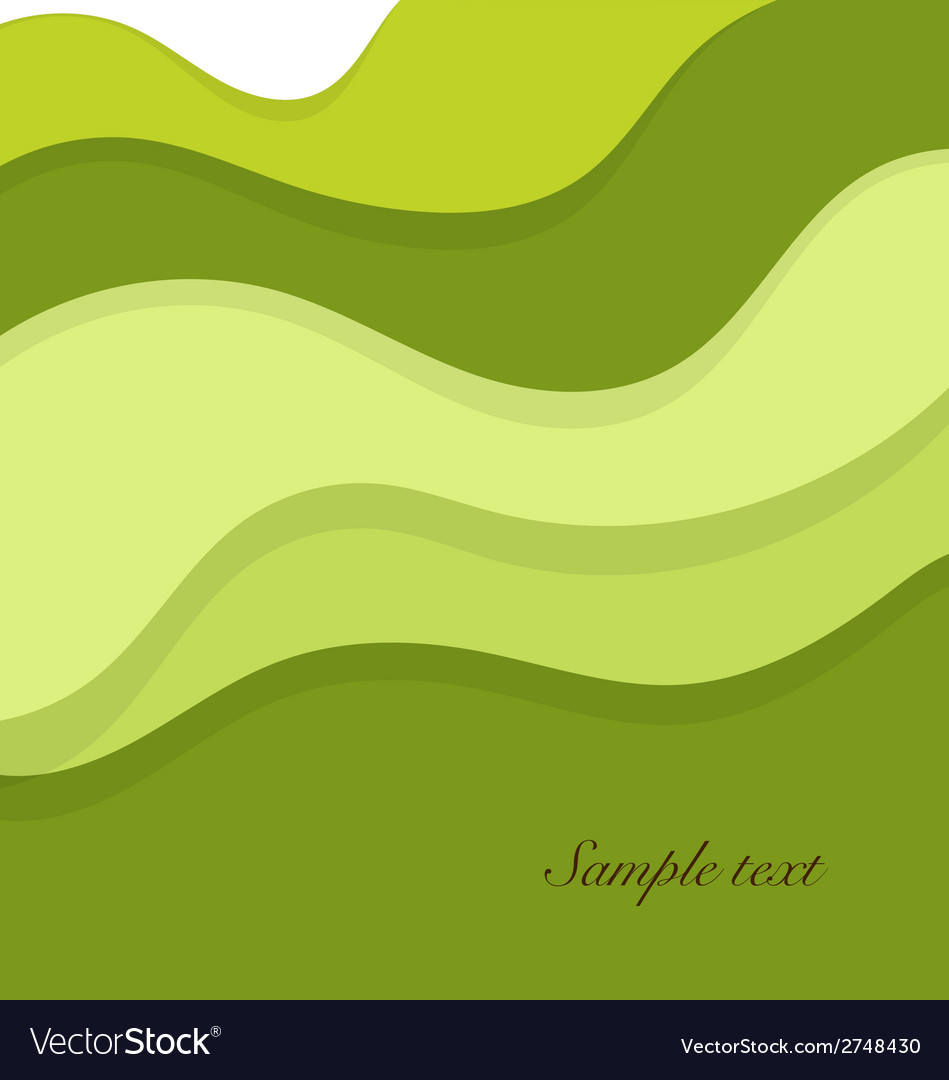 Abstract background with green layers vector | Price: 1 Credit (USD $1)