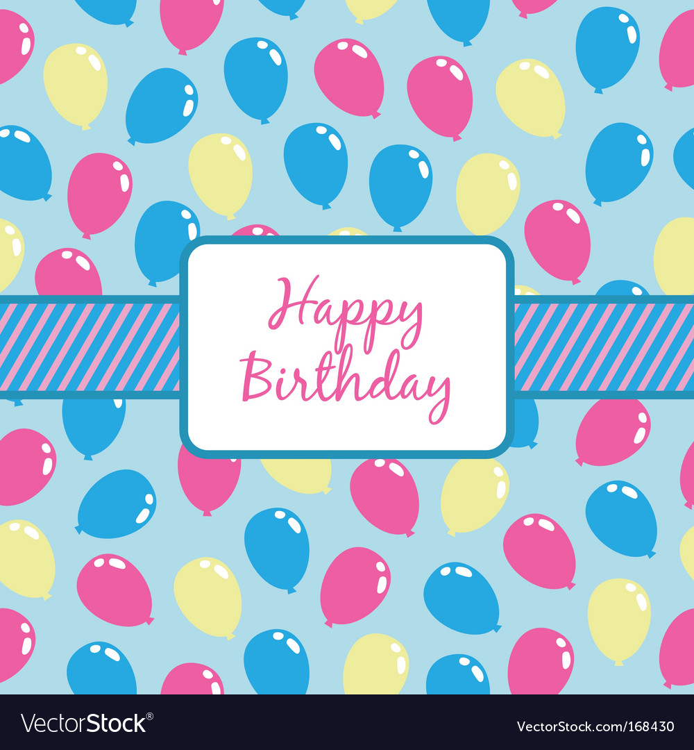 Birthday balloons wrapping vector | Price: 1 Credit (USD $1)