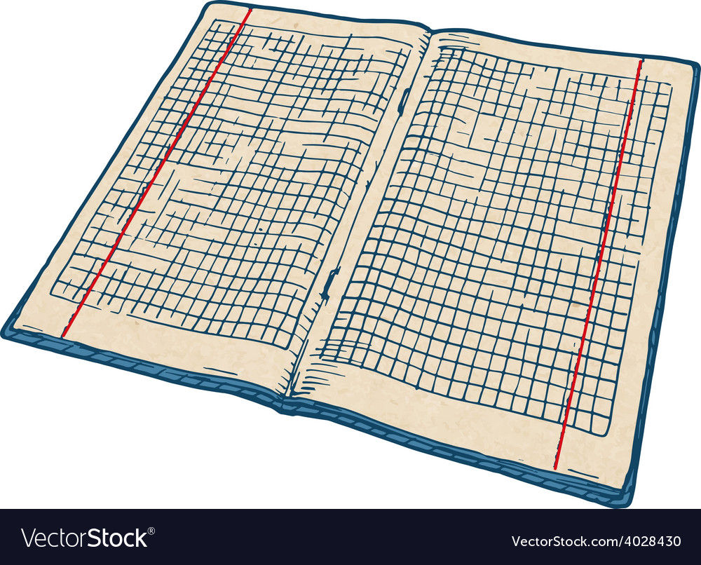 Checkered notebook vector | Price: 1 Credit (USD $1)