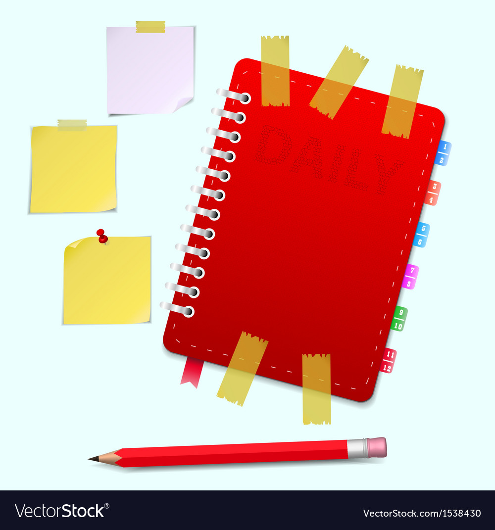 Daily and pensil and scotch vector | Price: 1 Credit (USD $1)