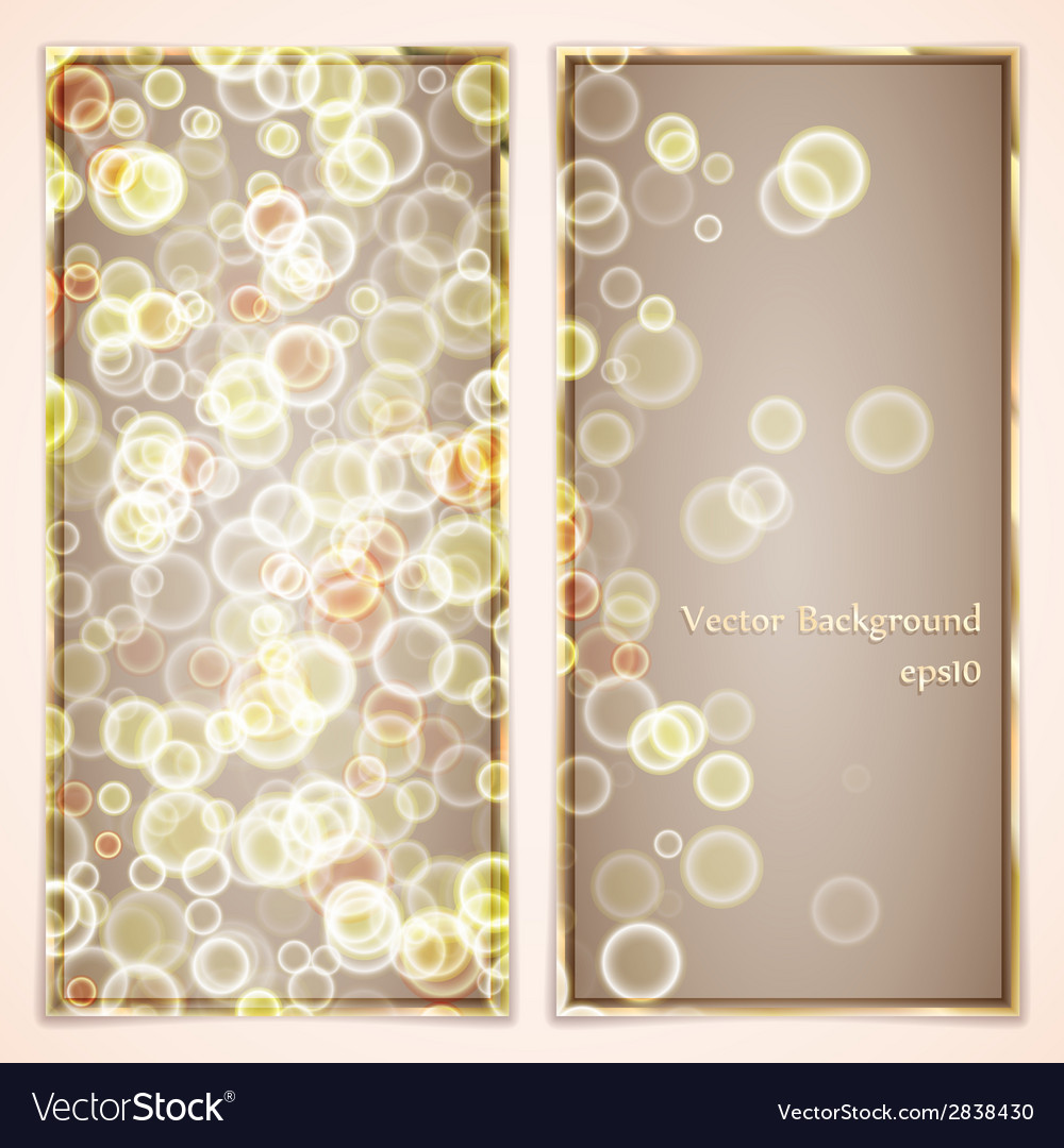 Elegance greeting card with bubbles vector | Price: 1 Credit (USD $1)