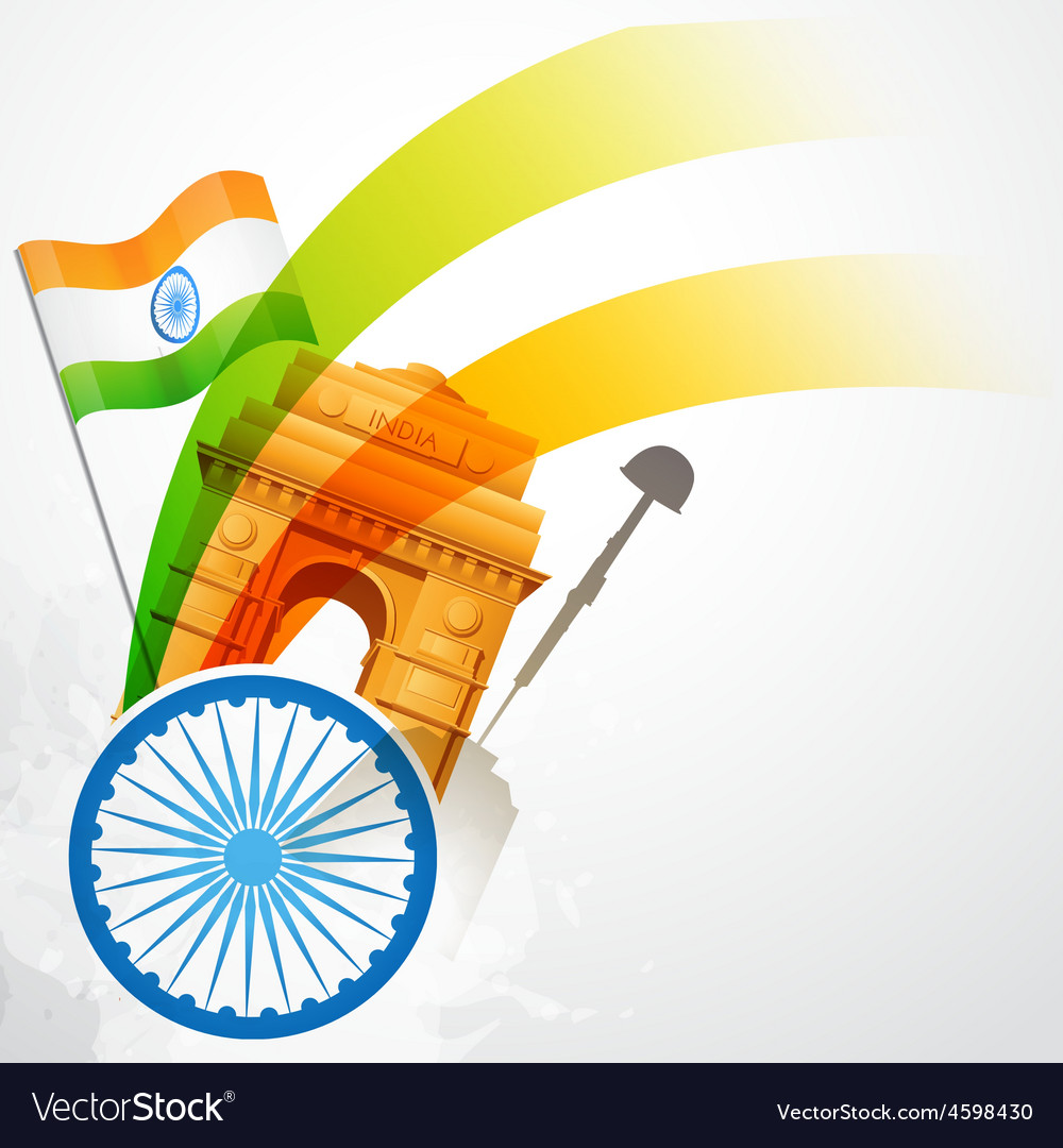 Indian flag vector | Price: 3 Credit (USD $3)