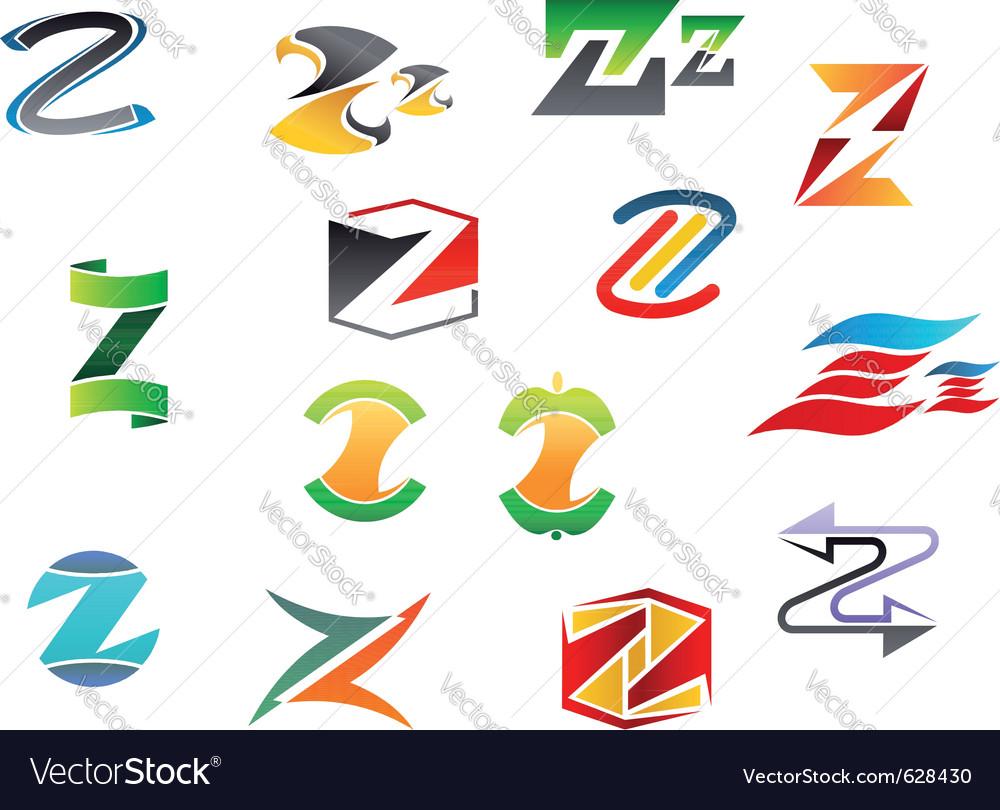 Letter z alphabet symbols vector | Price: 1 Credit (USD $1)