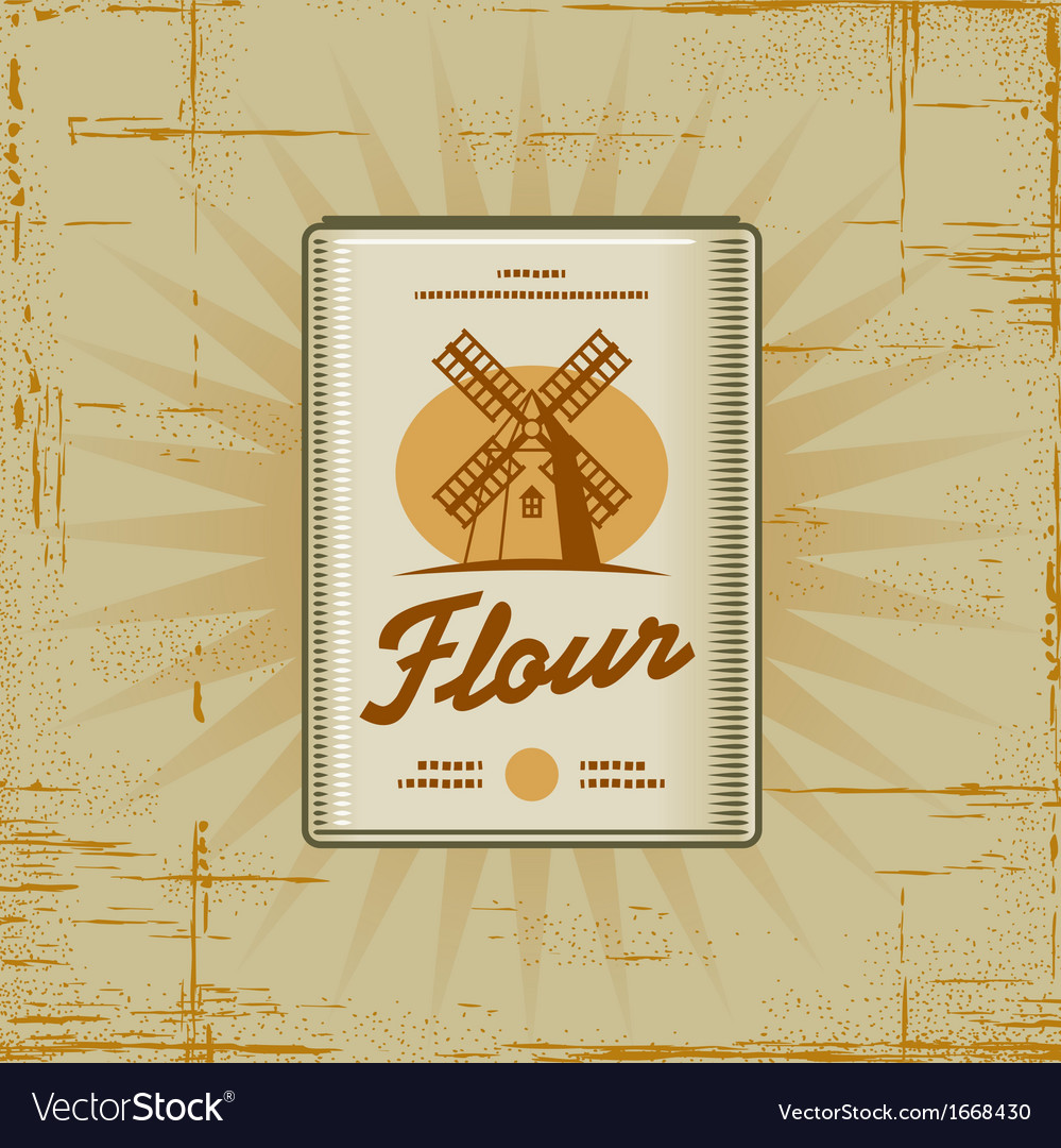 Retro flour pack vector | Price: 1 Credit (USD $1)