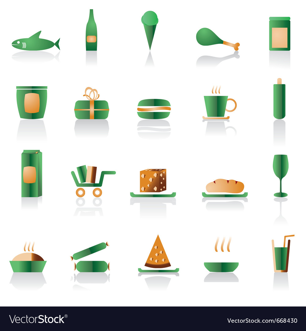Shop and foods icons vector   Price: 1 Credit (USD $1)