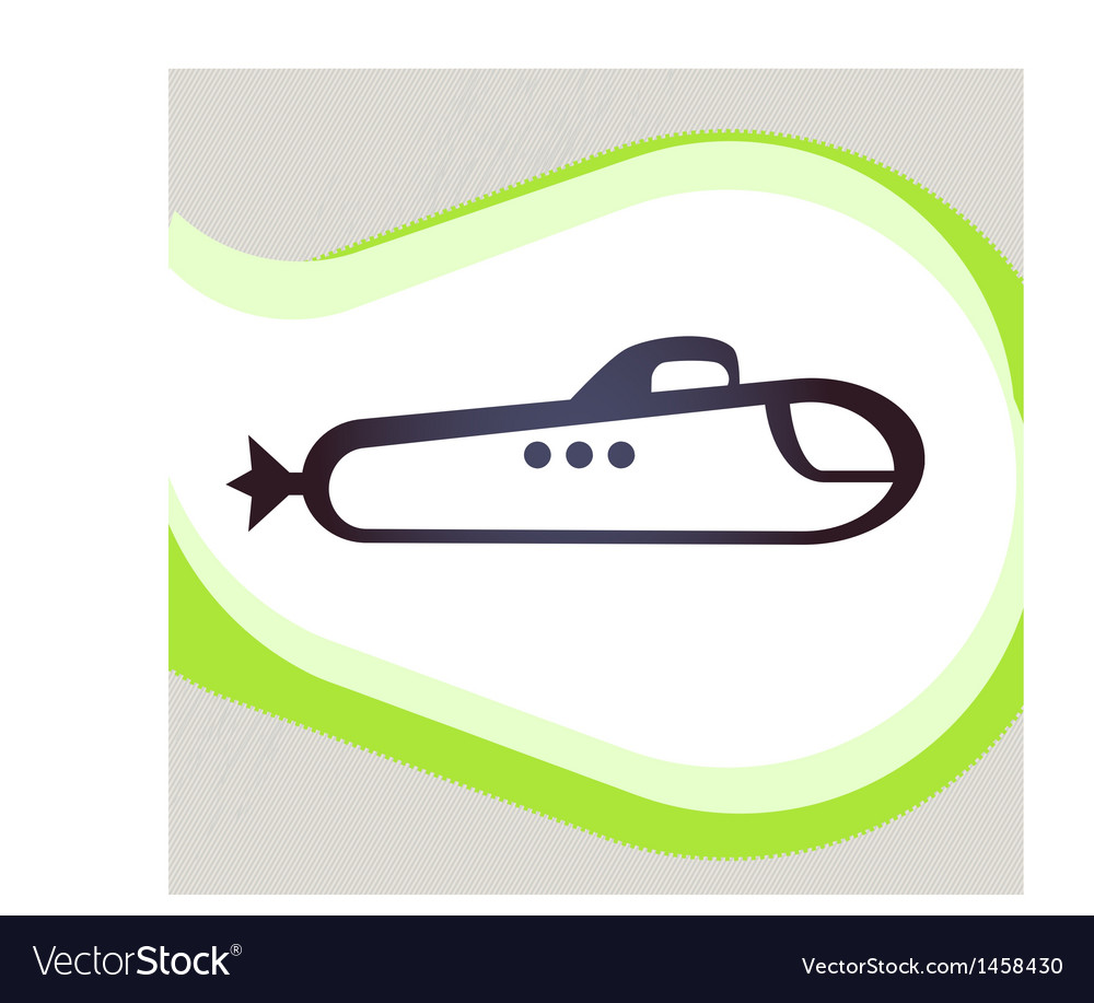 Submarine retro-style emblem icon pictogram eps 10 vector | Price: 1 Credit (USD $1)