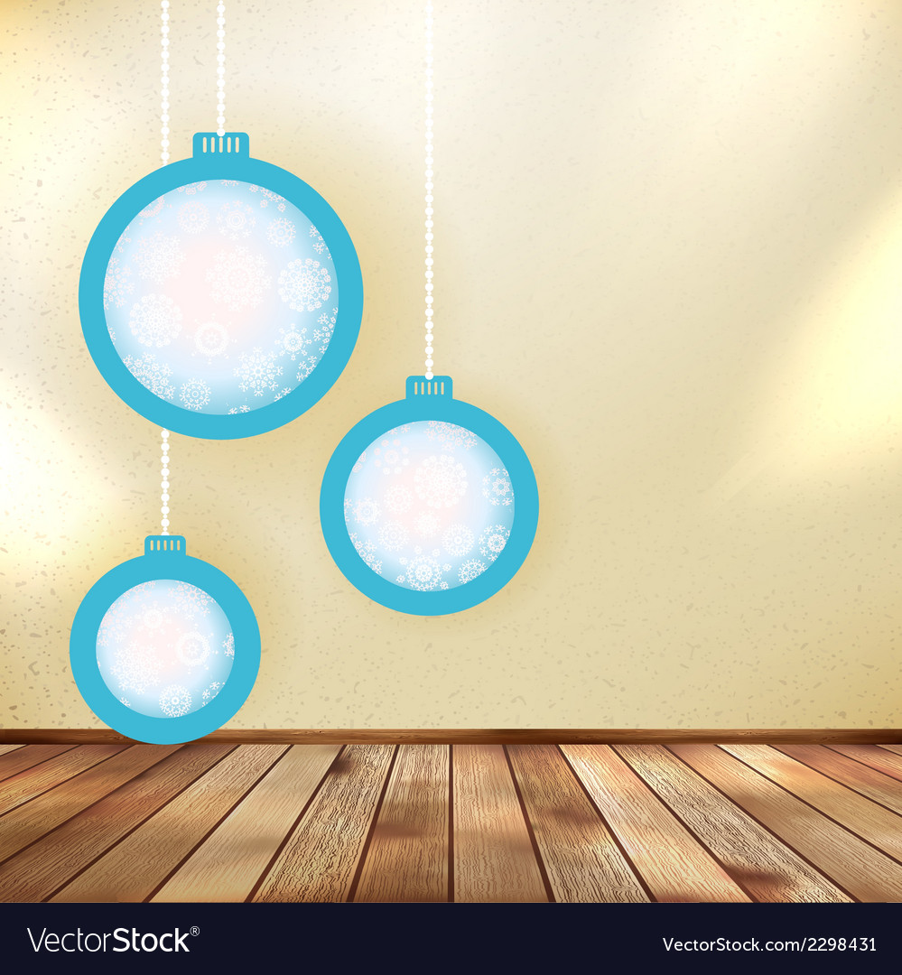 Christmas balls with place for your text eps 10 vector   Price: 1 Credit (USD $1)