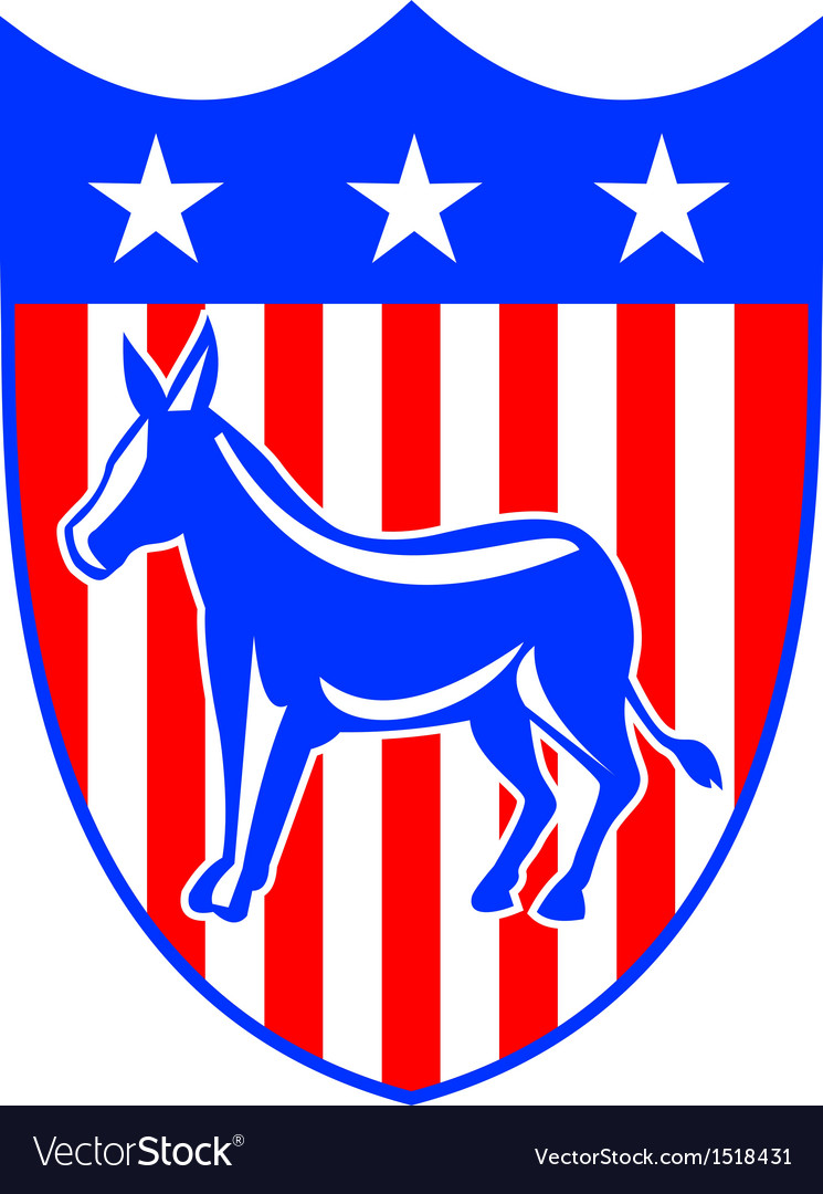 Democrat donkey mascot vector | Price: 1 Credit (USD $1)