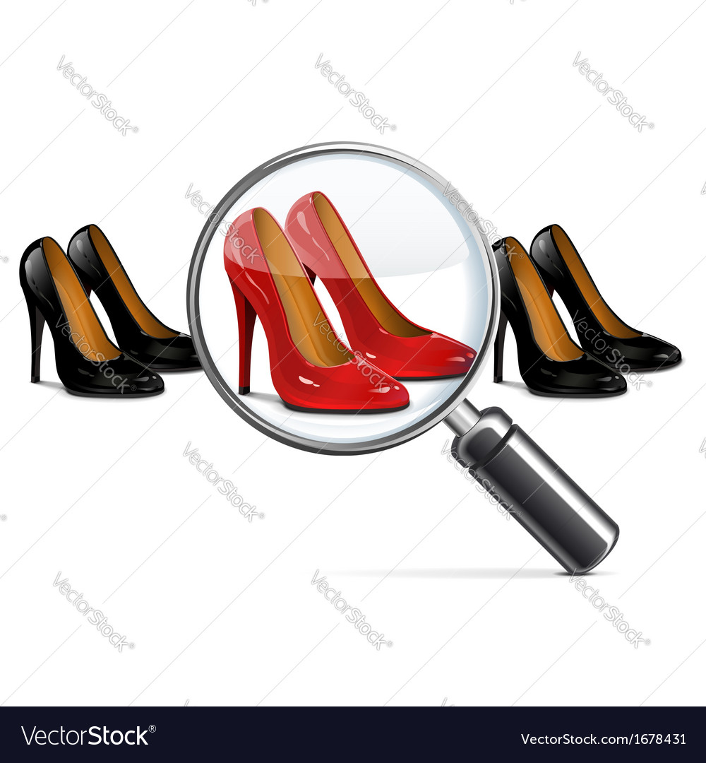 Female shoes with lens vector | Price: 1 Credit (USD $1)