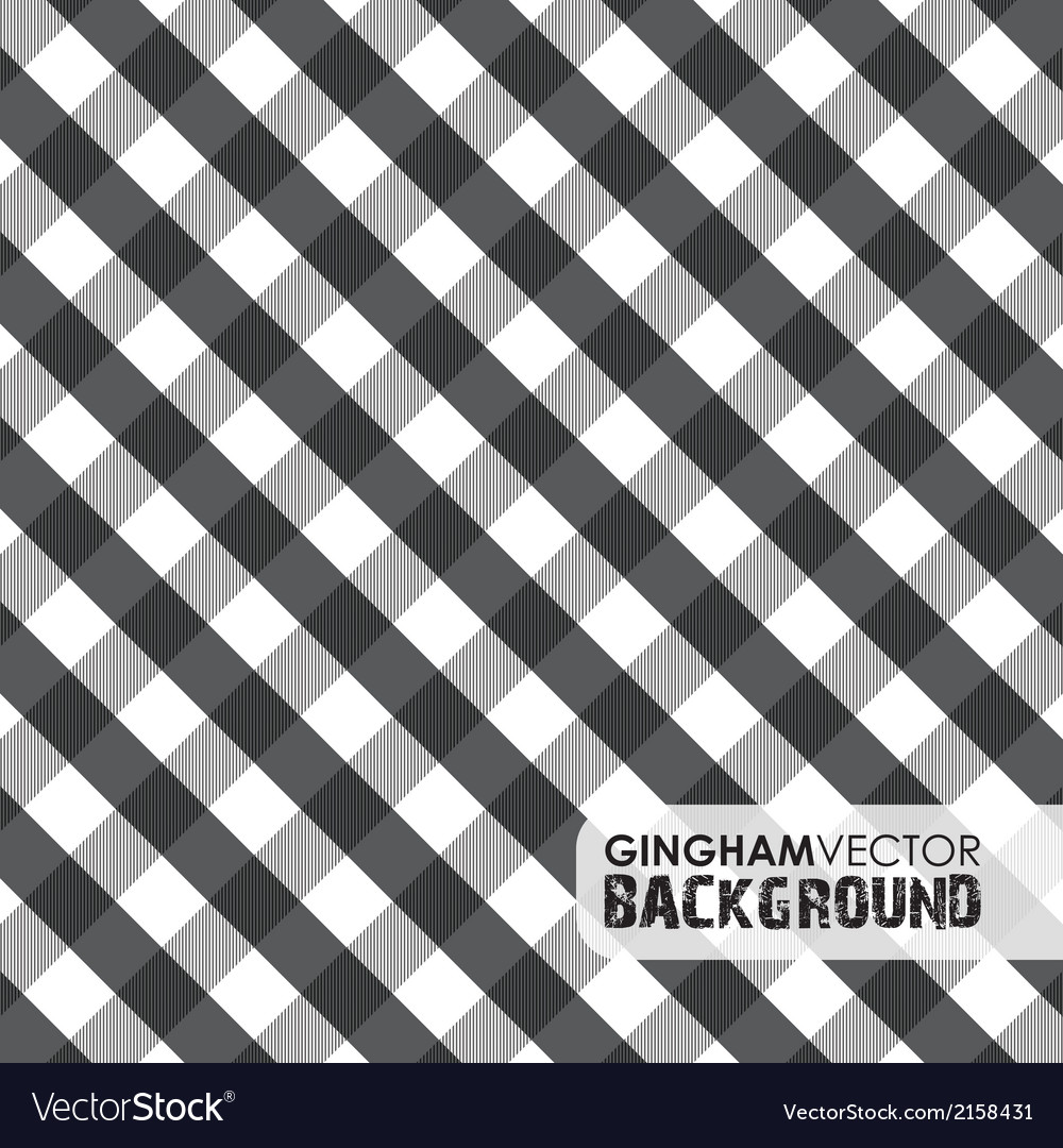 Gingham black vector | Price: 1 Credit (USD $1)