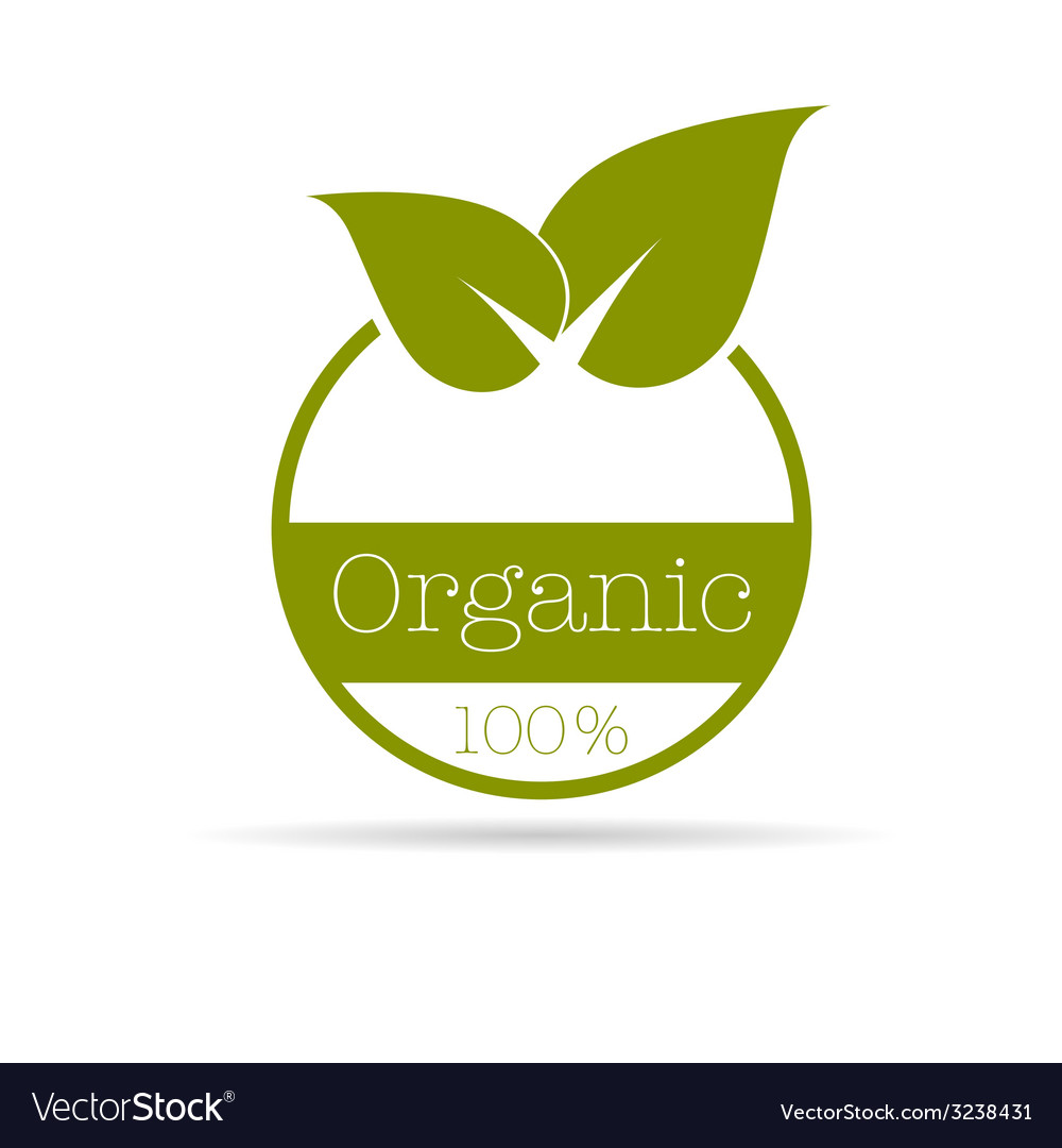 Organic symbol in green color vector   Price: 1 Credit (USD $1)