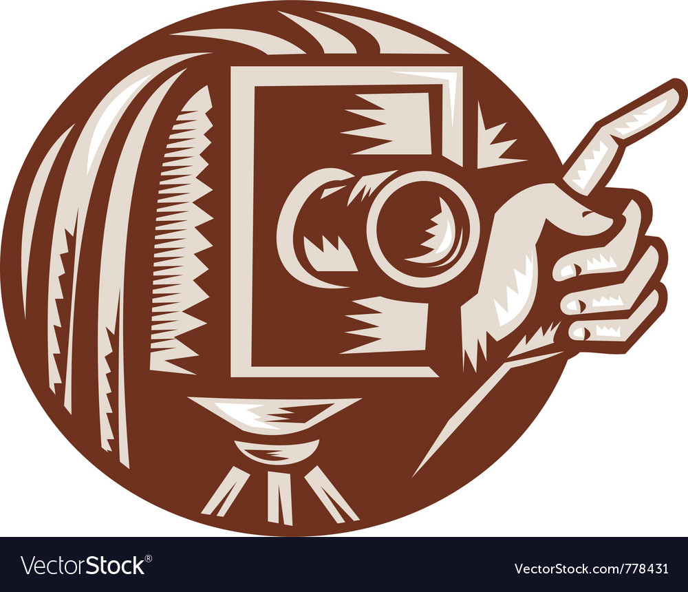 Vintage bellow camera vector | Price: 1 Credit (USD $1)