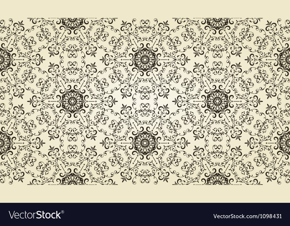 Vintage highly detailed seamless patten vector | Price: 1 Credit (USD $1)