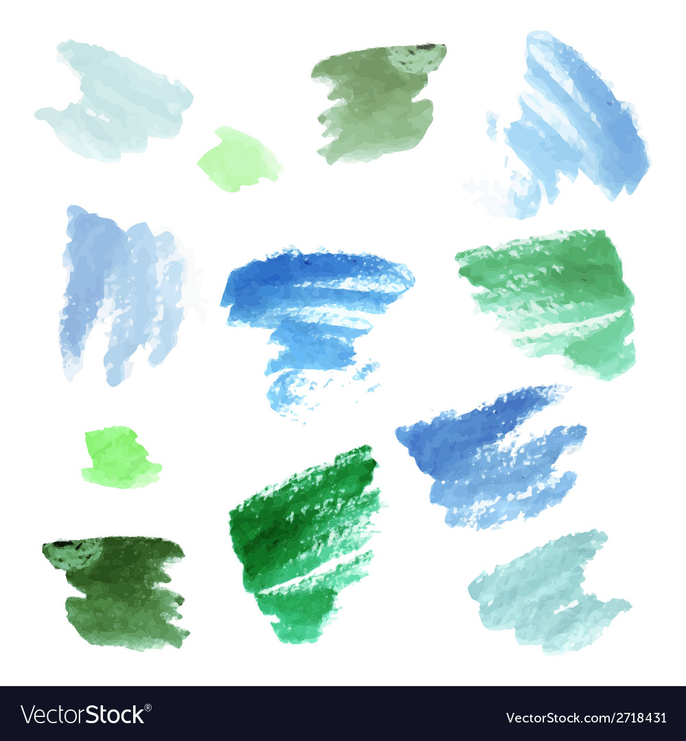 Watercolor background set vector | Price: 1 Credit (USD $1)
