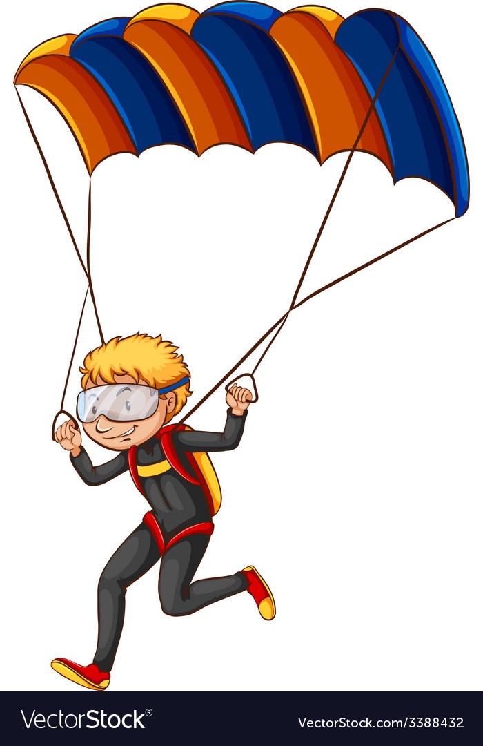 A man enjoying the parachute vector   Price: 1 Credit (USD $1)