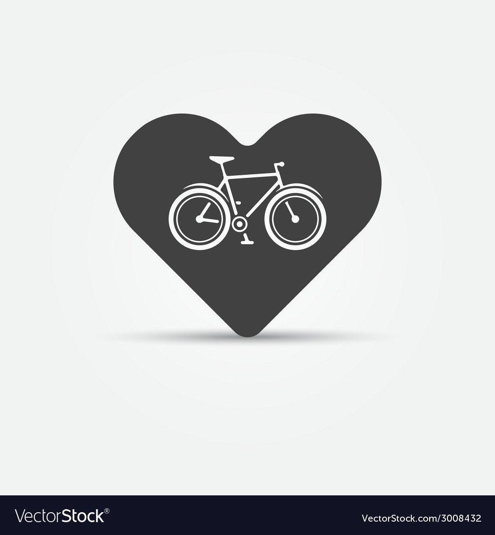 I love my bike icon vector | Price: 1 Credit (USD $1)