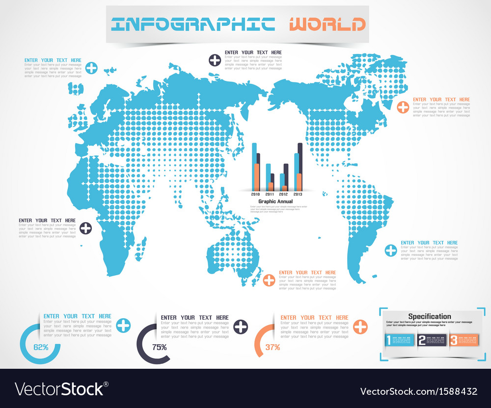 Infographic world modern edition 2 vector | Price: 1 Credit (USD $1)