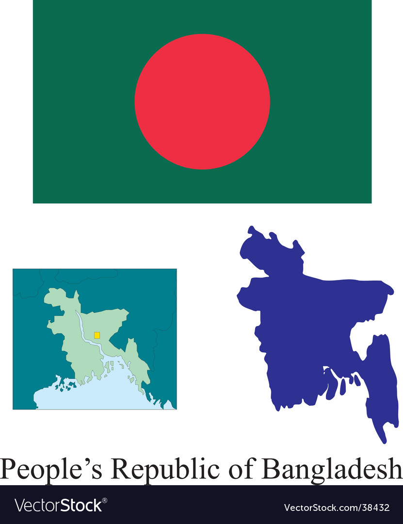 Peoples republic of bangladesh flag vector | Price: 1 Credit (USD $1)