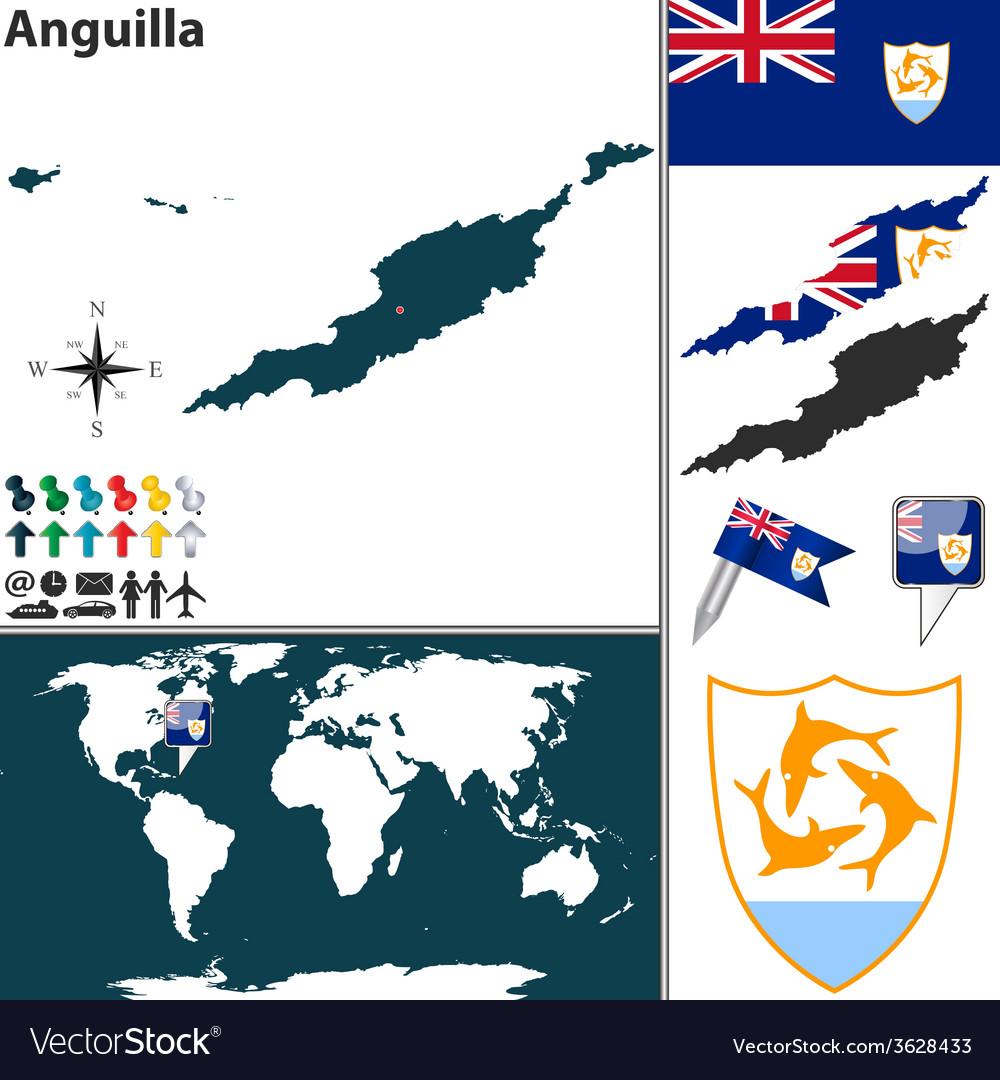 Anguilla map vector | Price: 1 Credit (USD $1)