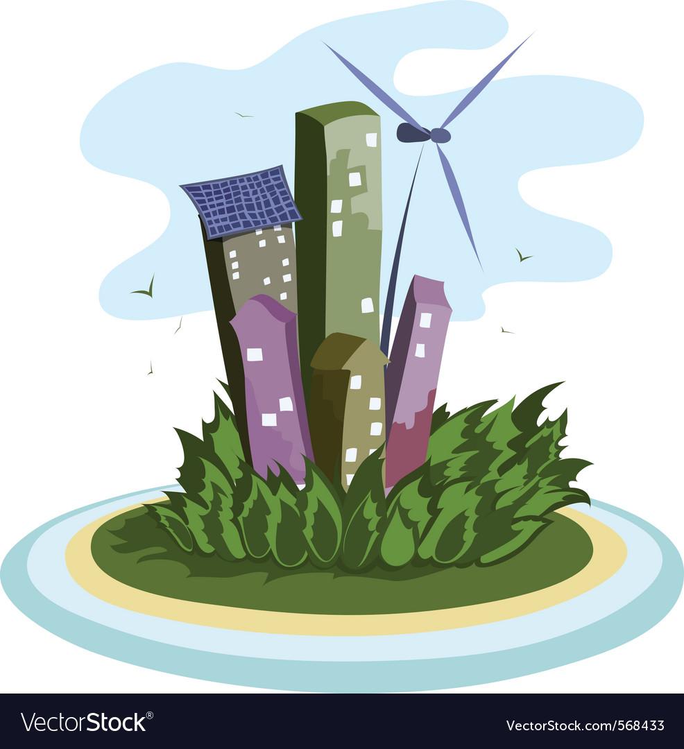 Energy city vector | Price: 1 Credit (USD $1)