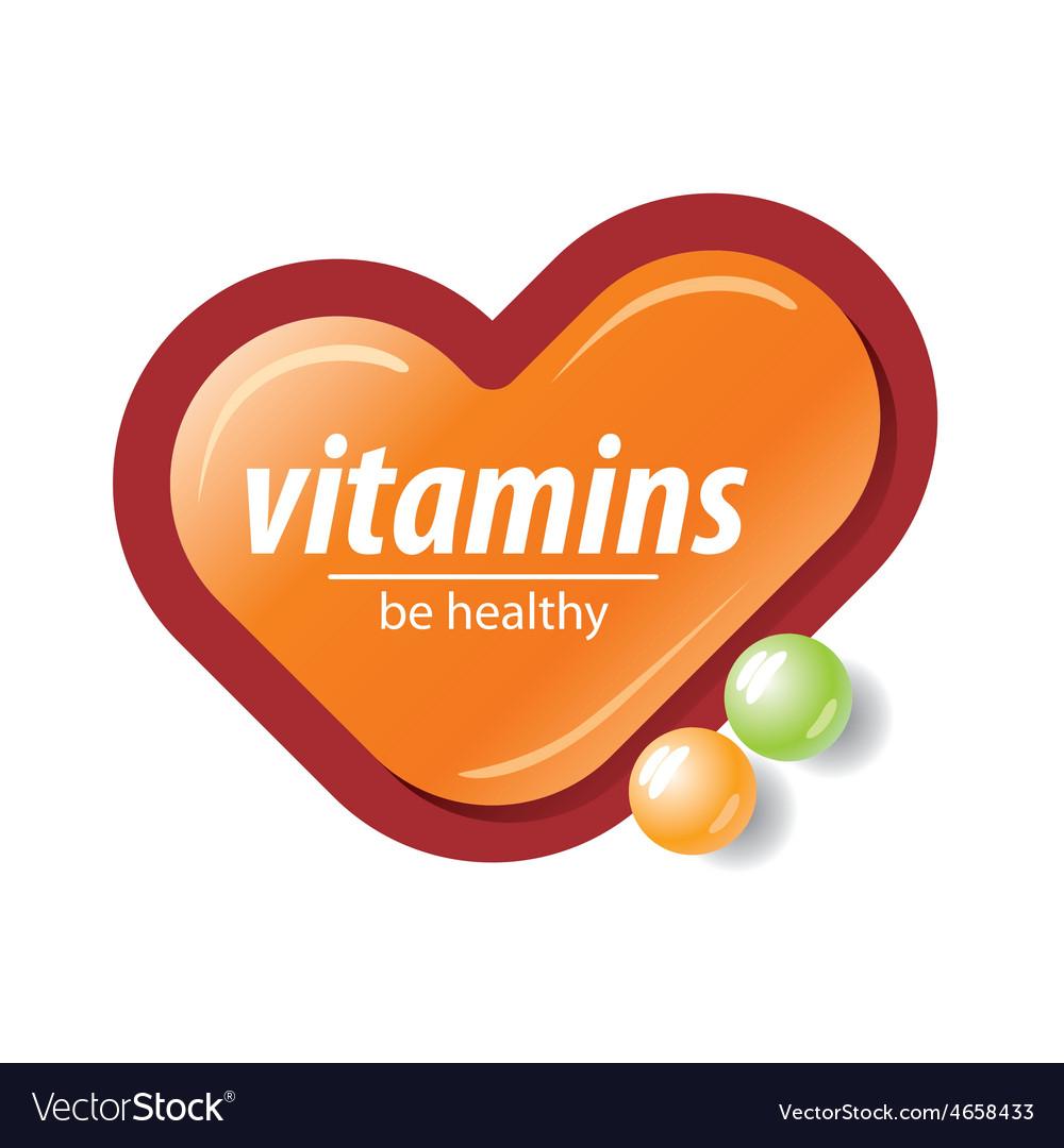 Logo orange check mark vitamins vector   Price: 1 Credit (USD $1)