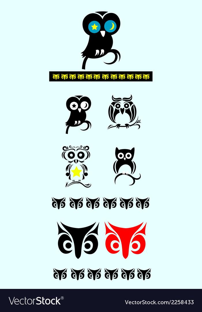 Owl bird ornate decoration vector | Price: 1 Credit (USD $1)