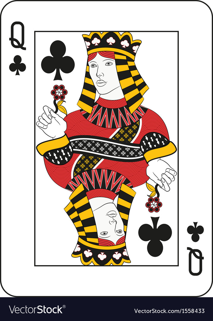 Queen of clubs vector | Price: 1 Credit (USD $1)