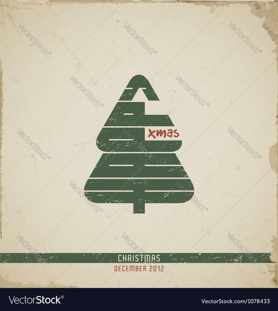 Retro christmas greeting card vector | Price: 1 Credit (USD $1)