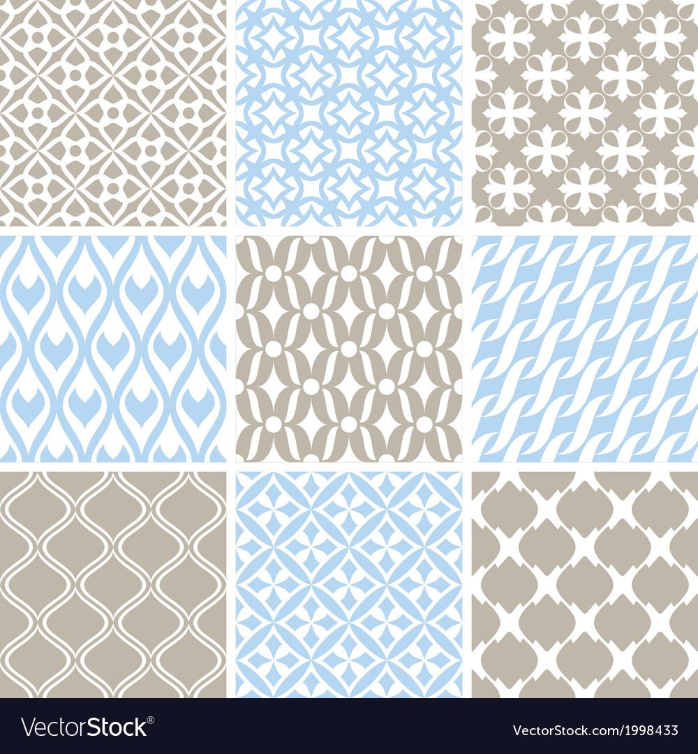 Vintage ornament patterns vector