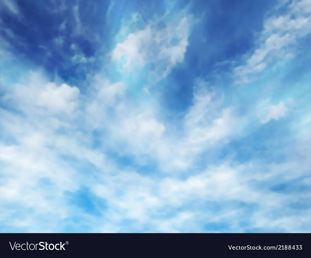 Wispy clouds vector | Price: 1 Credit (USD $1)