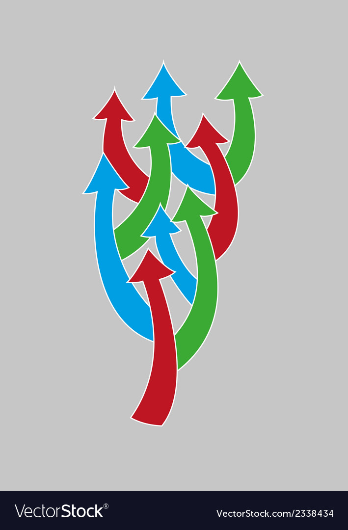 Arrows tree vector | Price: 1 Credit (USD $1)
