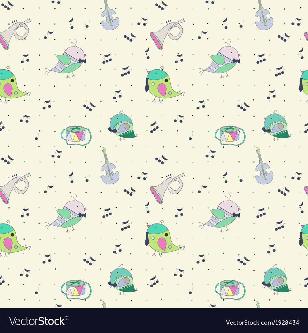 Bird musical instrument note vector | Price: 1 Credit (USD $1)