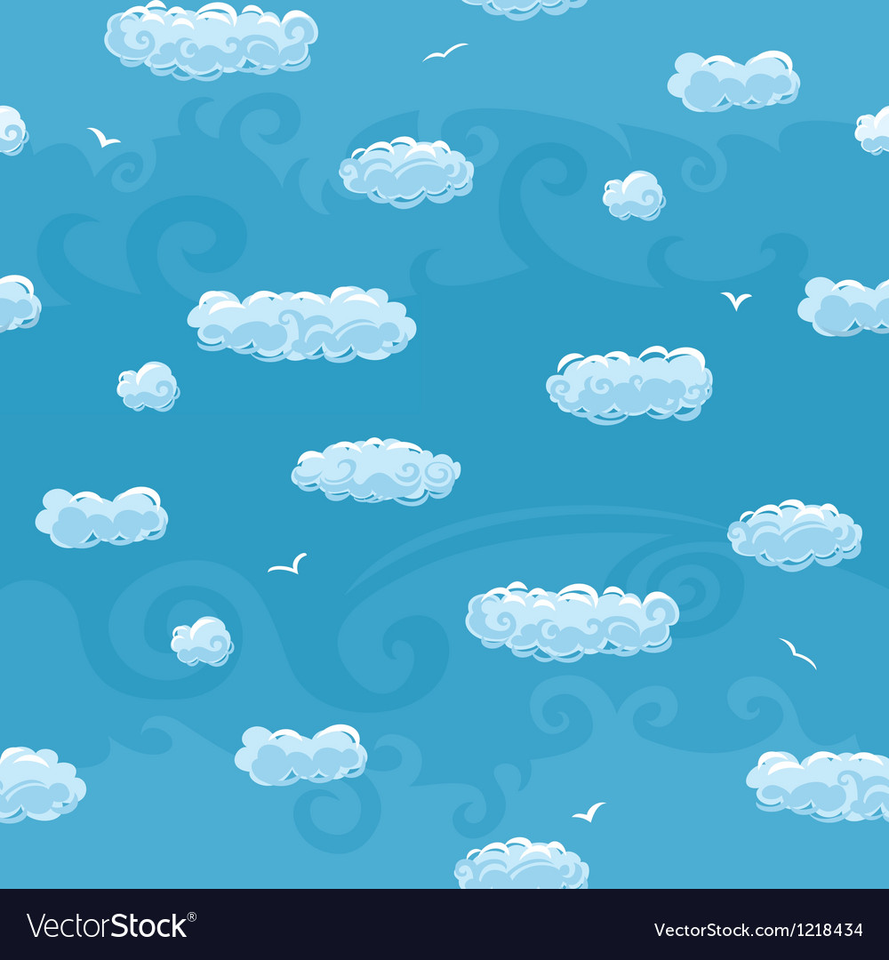 Blue sky seamless pattern vector | Price: 1 Credit (USD $1)