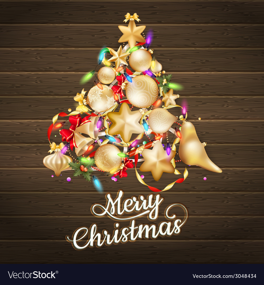 Christmas card with baubles eps 10 vector | Price: 3 Credit (USD $3)
