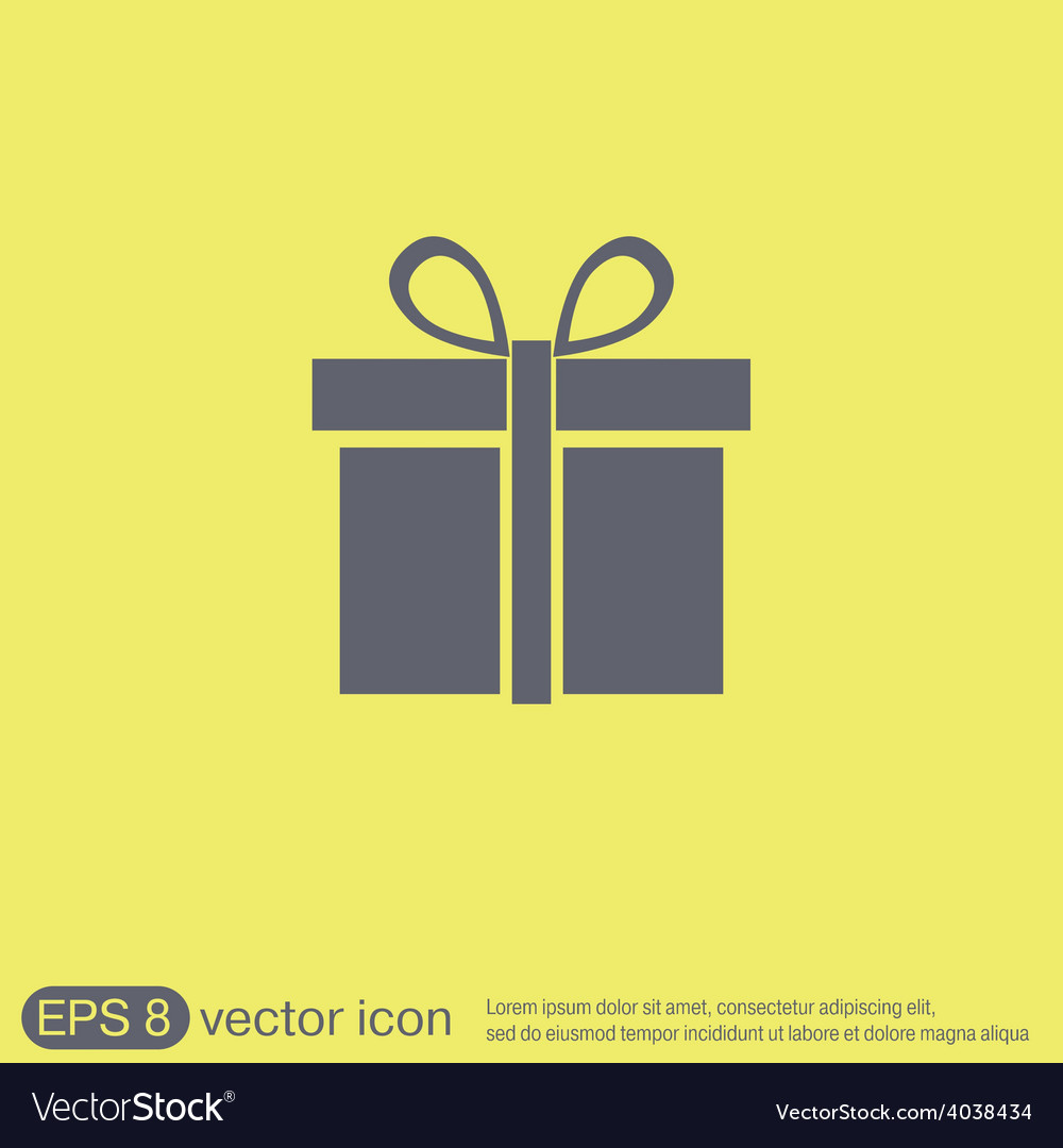 Gift box icon with a bow holiday or celebration vector | Price: 1 Credit (USD $1)