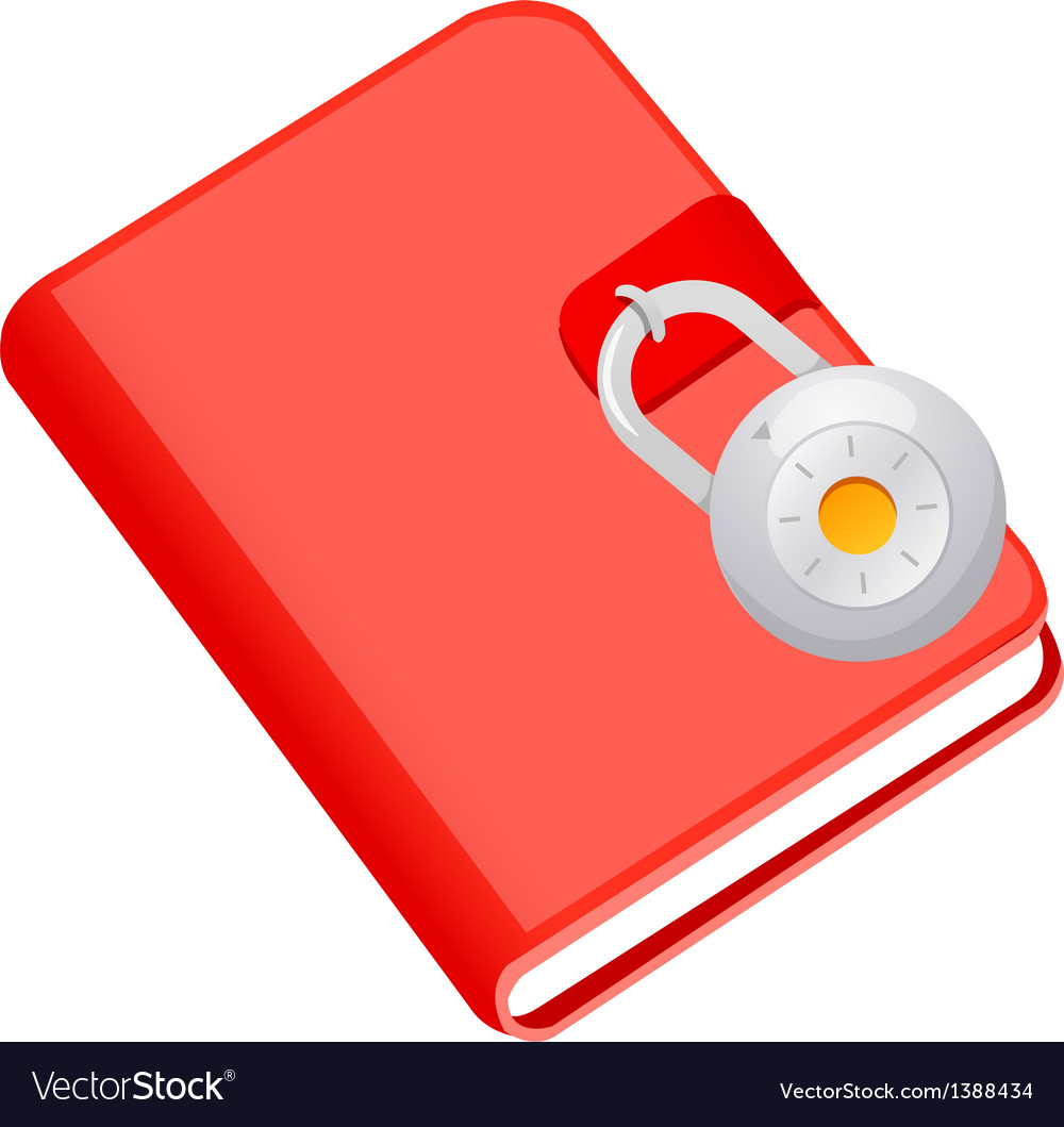Icon diary and lock vector   Price: 1 Credit (USD $1)