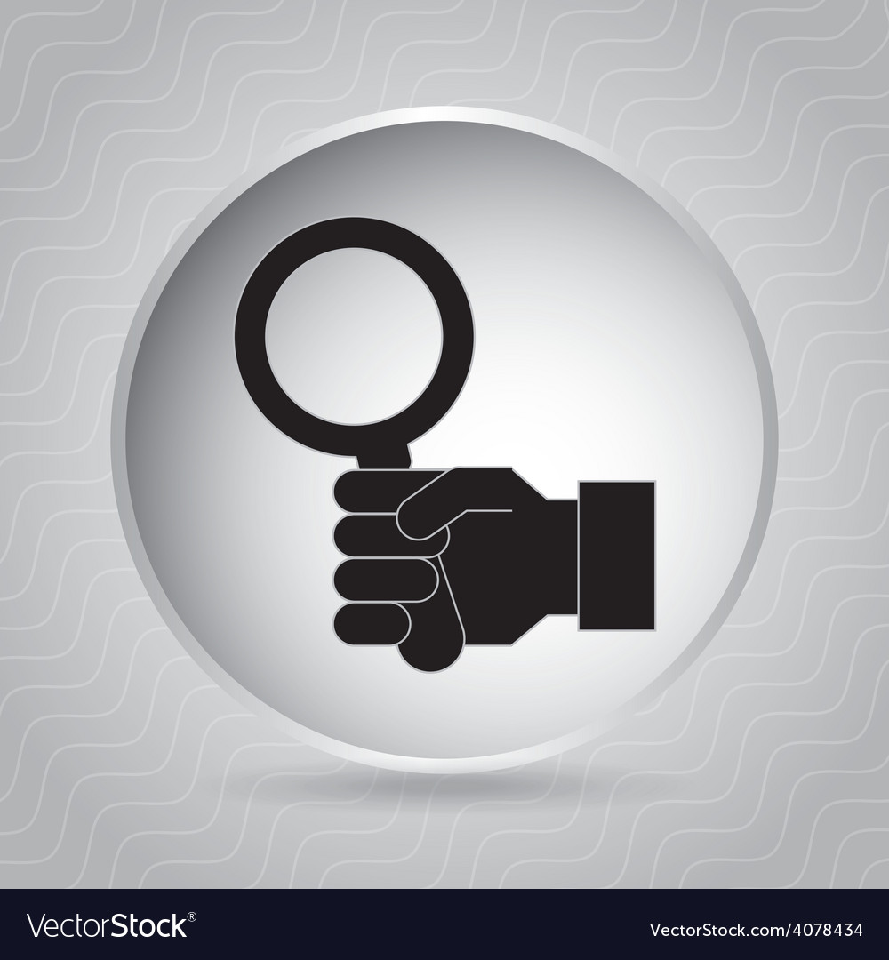 Magnifying glass vector | Price: 1 Credit (USD $1)